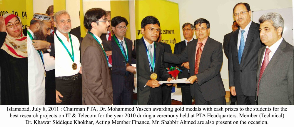 PTA Awards Gold Medals To the Winners of Best Research Projects on IT & Telecom 08-07-11