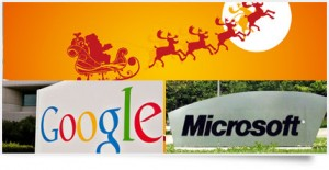 This Christmas Santa being tracked by Microsoft and Google