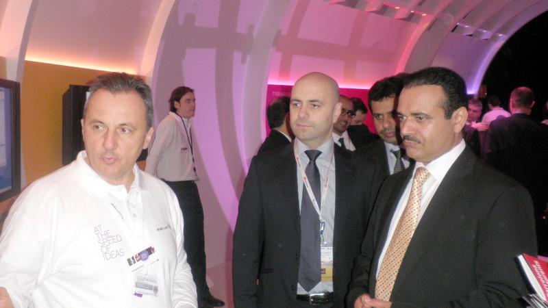 Eng. Saud Al Daweesh, CEO - STC Group, Eng. Ghassan Hasbani, CEO - STC International in a vendor visit