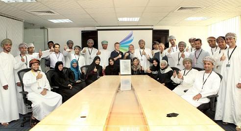 Nawras IT team celebrates award of ISO