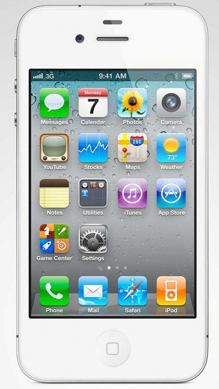 white IPhone 4 - 1
