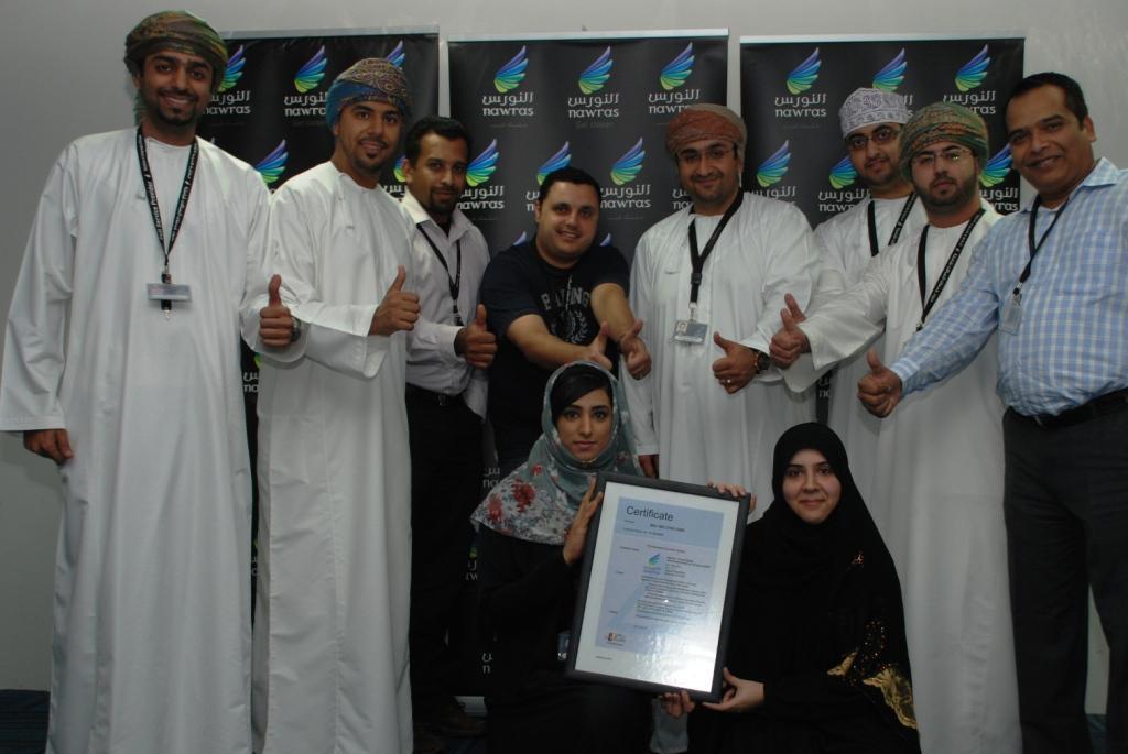 Nawras celebrates ISO certificate