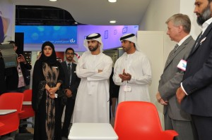 His Highness Sheikh Mansoor bin Mohammed bin Rashid Al Maktoum visits du at GITEX 2013