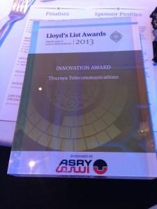 Thuraya SatSleeve wins Lloyd's List Innovation Award